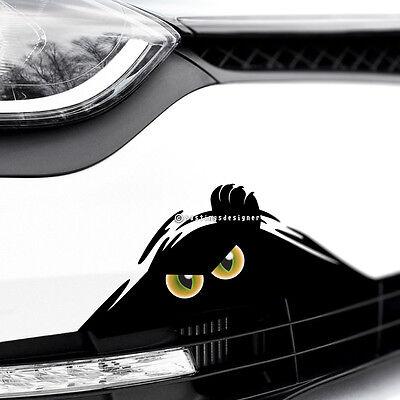 MONSTER CAT EYES PEEPER Scary Funny Car,Van,Bumper JDM DUB Vinyl Decal Sticker