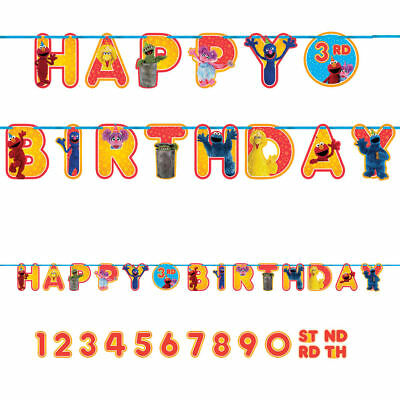Sesame Street Elmo Add an Age Happy Birthday Jumbo Letter Banner Kit ](Sesame Street Birthday Banner)