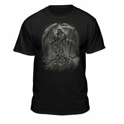 Teelocity Soul Searcher Grim Reaper Angel Wings Men's T-Shirt Black](Grim Reaper Wings)