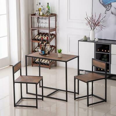 Popular 2 Seater Dining Table Chairs Breakfast Kitchen Room Wood Furniture Set