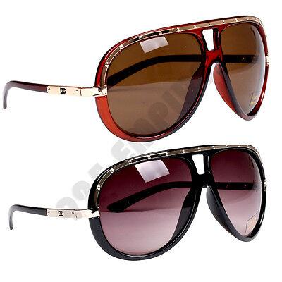Men's Retro Aviator Pilot Oversized Hip Hop Vintage Sunglasses Eyewear*BOG*382