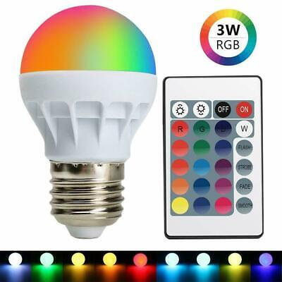 3W E27 16 Color RGB Magic LED Spot Light Bulb Lamp Remote Control For Home Decor](Lights For Decorations)