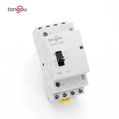 4p 25a Ac 4no Din Rail Household Modular Contactor With Manual Control Switch