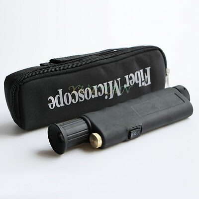 Optical Fiber Testing Tools Tester Mini 200x Fiber Microscope Inspection Scope
