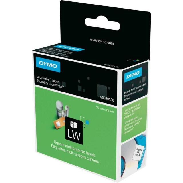 3 x Boxes of 750 Genuine Dymo S0929120 Square Multipurpose Labels, 25mm x 25mm