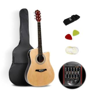 41' Professional 5 Band EQ Full Size Cutaway Electric Acoustic