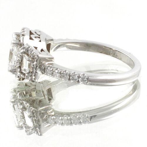 GIA Certified Radiant Cut Diamond Engagement Ring 2.26 Carat 18k White Gold 1