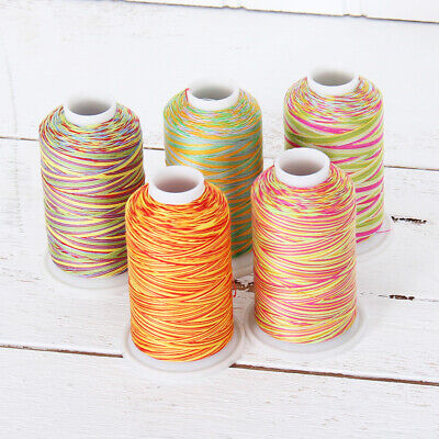 VARIEGATED MULTICOLOR 100% COTTON THREAD 600M BY THE SPOOL - SEWING QUILTING Variegated Cotton Quilting Thread