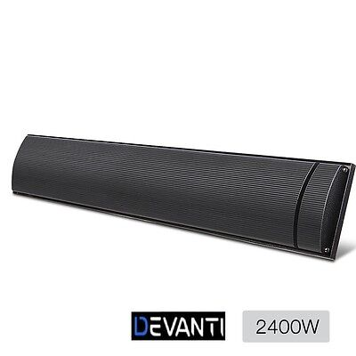 2400W Electric Radiant Strip Heater Panel Outdoor/Home Heating Slimline Heat Bar