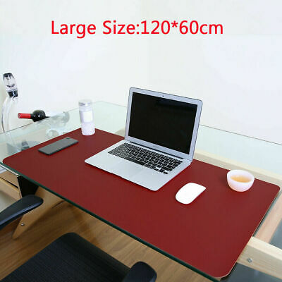 Non Slip Pu Leather Office Desk Protector Mat Keyboard Mouse Laptop Pad -large