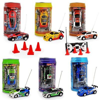 Mini Toy Cars (NEW MINI REMOTE CONTROL HIGH SPEED MICRO RACING CAR IN COKE CAN TOY GIFT FO)