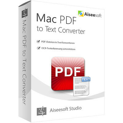 PDF to Text Converter OCR MAC Aiseesoft -lebenslange Lizenz Download nur 16,99 !