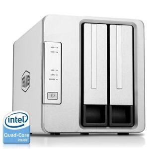 Noontec-TerraMaster F2-420 NAS Server 2-Bay Intel Quad Core 2.0GHz 4GB RAM Network RAID Storage for Small/Medium Busines