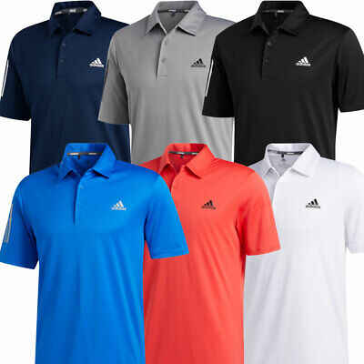 adidas Golf 3-Stripe Basic Mens Short Sleeve Polo Shirt UV 50+ // NEW 2020