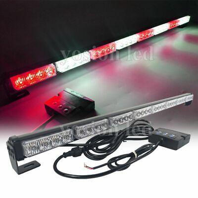 34 Led Emergency Flash Strobe Light Bar Vehicles Traffic Advisor Redwhite 32w