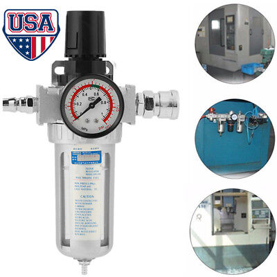 14 Pneumatic Air Pressure Regulator Filter Moisture Water Trap Compressed Us
