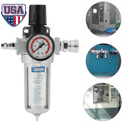 14 Pneumatic Air Pressure Regulator Filter Moisture Water Trap Compressed Us