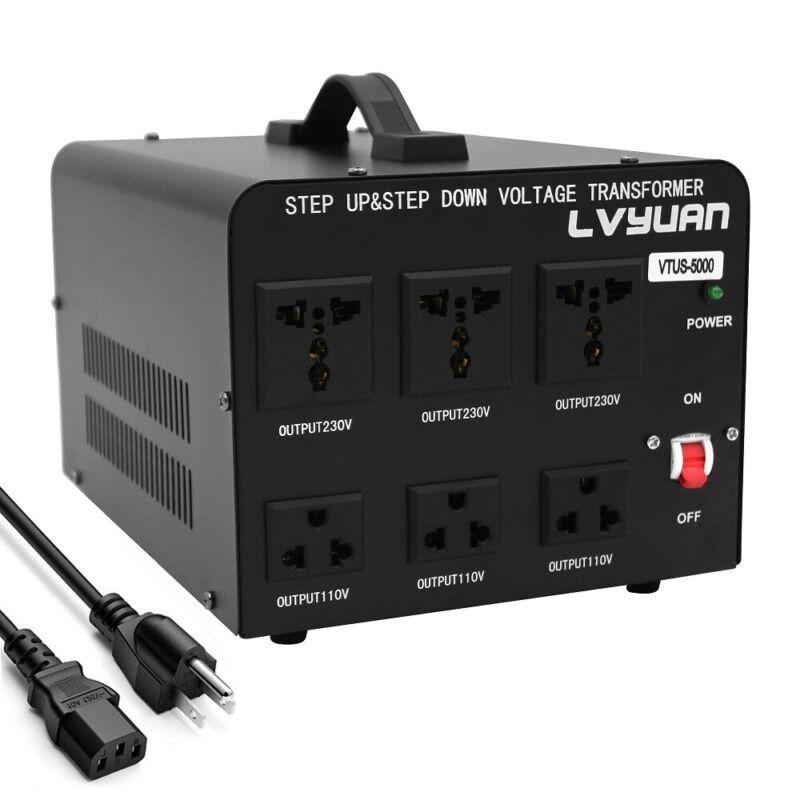 5000W Peak Voltage Converter Transformer Step Up / Down 110v-220v / 220v-110v