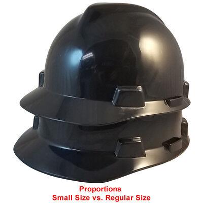 MSA BLACK LARGE SIZE (7 -8 ½) V-Gard Cap Style Safety Hard Hat Ratchet Susp NEW