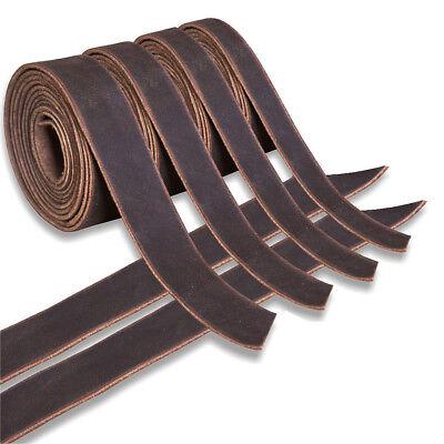 Genuine Cowhide Leather Belt Blanks Belt Strip Brown Oil Tan
