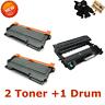 1x DR420 Drum 2x TN450 Toner for Brother HL-2270DW HL-2280DW MFC7360N HL-2240 US