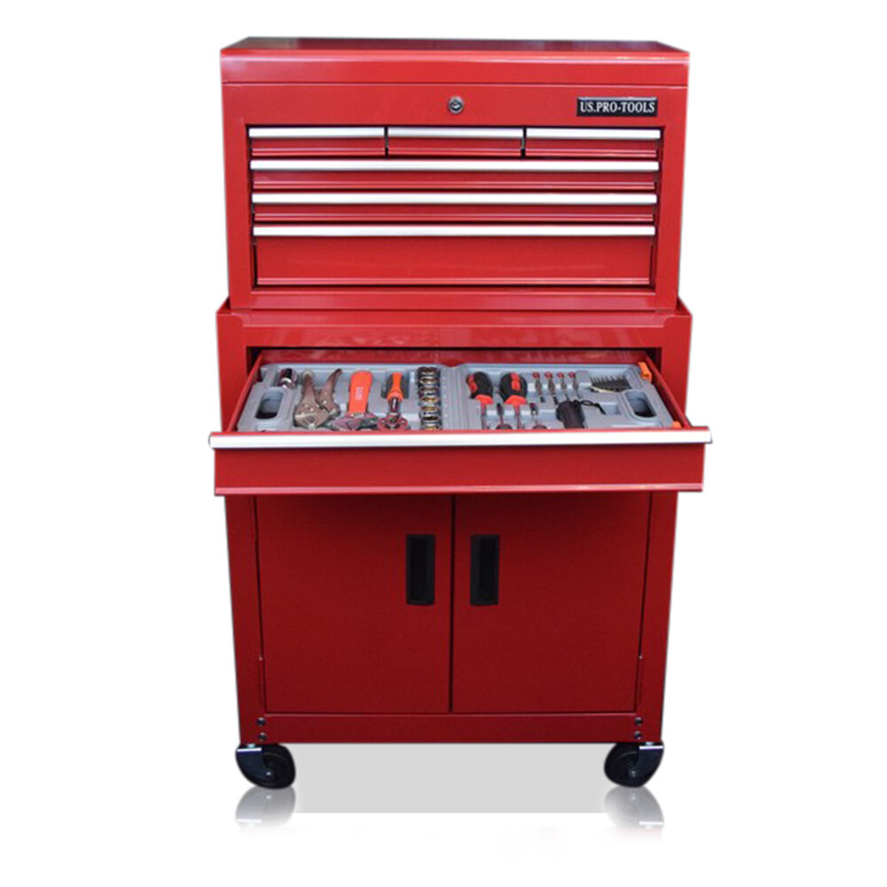 352 US PRO TOOLS AFFORDABLE TOOL CHEST BOX ROLLER CABINET