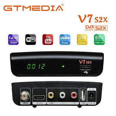 GTMEDIA V7S2X- Receptor de satélite Full HD,DVB-S /S2/S2X,color Negro,WIFI