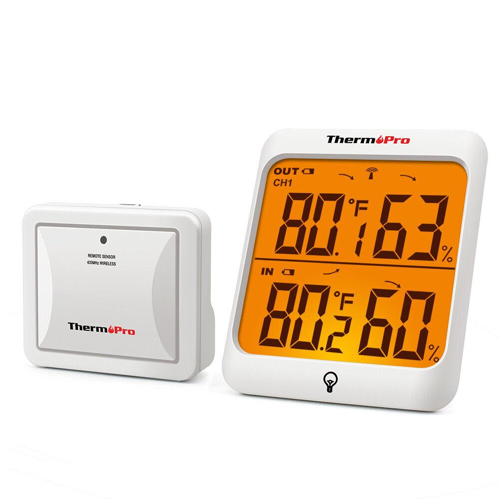 Digital LCD Indoor &Outdoor Thermometer Hygrometer RomeTempe