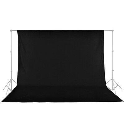 Seamless 10x10 Black Muslin Backdrop Photo Studio Photography Cotton Background