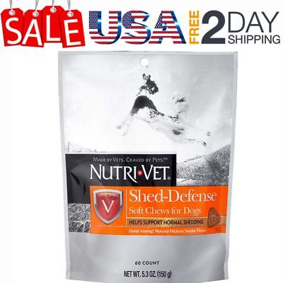Nutri-Vet Shed-Defense Soft Chews for Dogs,Fish Oil Supplements  5.3 Ounce Bag