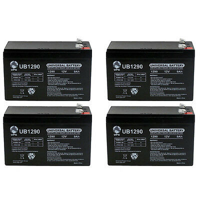 UPG 12V 9Ah SLA Battery for Mongoose M200 Electric Scooter - 4 Pack