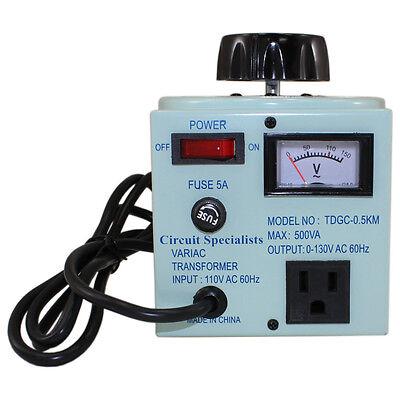Variable AC Transformer 500VA Variac 0-130V TDGC2-0.5