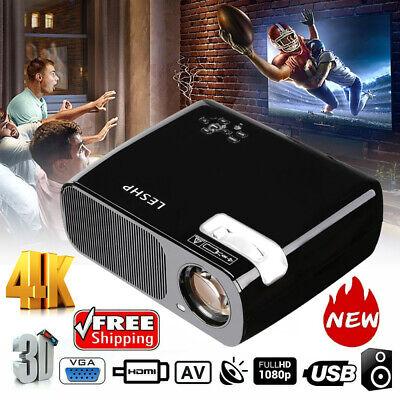 7000 Lumen 1080P Full HD 3D LED Projector LCD Home Theater VGA HDMI TV Cinema HT