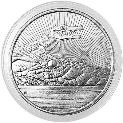 2019 P Australia Silver 2 oz Next Generation Crocodile $2 BU