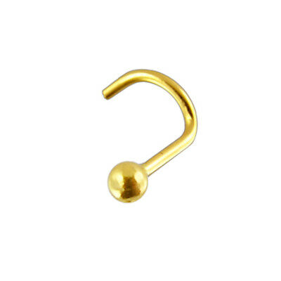 20G 14K Solid Gold Ball Nose Screw Stud piercing Jewelry