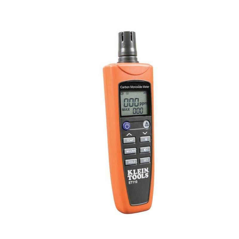 Klein ET110 Carbon Monoxide Detector w/ Carry Pouch Batteries Kit