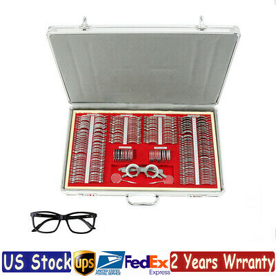 Optical Trial Lens Set Metal Rim Aluminum Case Optometry Kit Trial Frame 266pcs