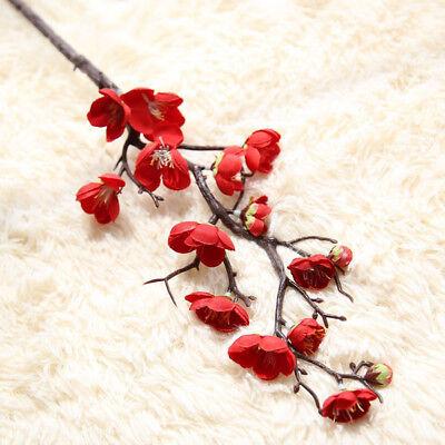 Artificial Silk Fake Flowers Plum Blossom Floral Wedding Bouquet Home Decor Hot