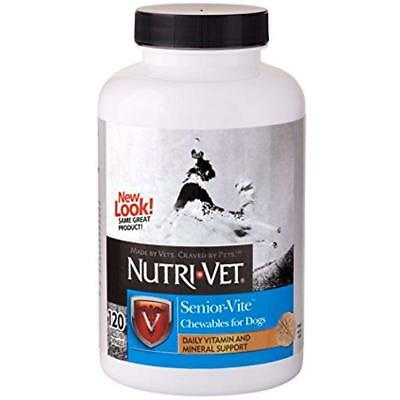 Nutri-Vet Senior Dog Vitamins Supplements Senior-Vite Immune System 120 Chewable