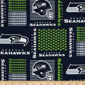 nfl seattle seahawks patch 100 cotton fabric by the 1 2 yard