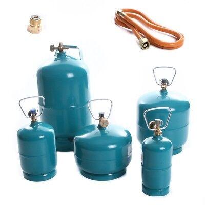 Leere befüllbare Gasflasche Propan Butan Camping Grill Umfüllschlauch 0,5-5kg