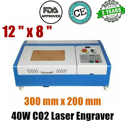 300 Mm X 200 Mm 40w 12 X 8 Co2 Laser Engraver And Cutter Worktable Fdace