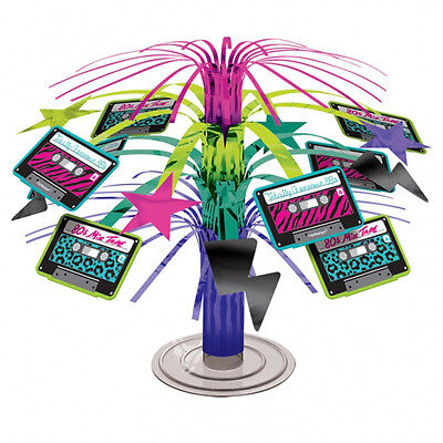 1980s Party Cascade Mini Table Centrepiece Disco Music Party Table Decorations (1980 Party Decorations)