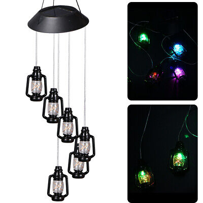 Waterproof Solar Power Wind Chimes Light LED For Garden Yard Landscape Lamp