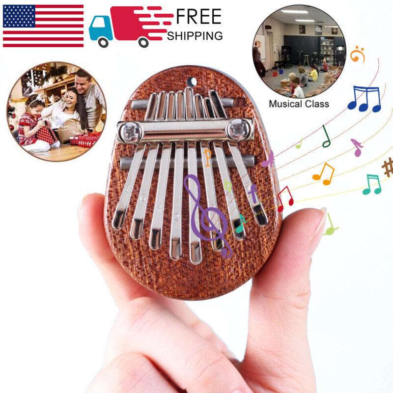 Mini 8 Keys Kalimba Thumb Piano Finger Percussion Pocket Musical Tool Gift US