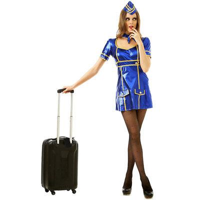 Sexy Flight Attendant Halloween Costume | Adult Women Airline Lady Uniform](Flight Attendant Halloween)