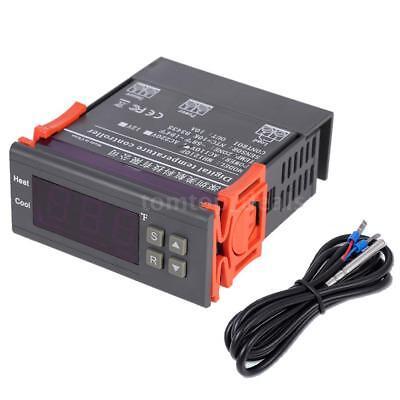 110v Led Digital Fahrenheit Temperature Controller Thermostat Temp Sensor P1l8