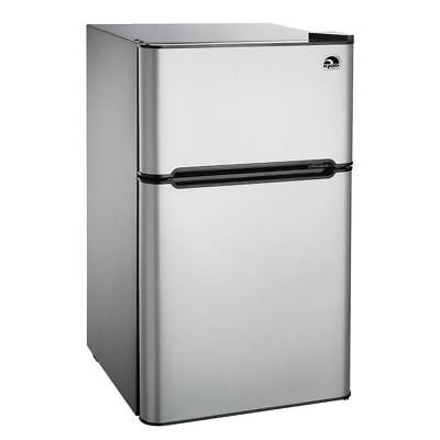 IGLOO 3.2 cu. ft. 2-Door Mini Refrigerator/Freezer, Stainless Steel- Refurbished