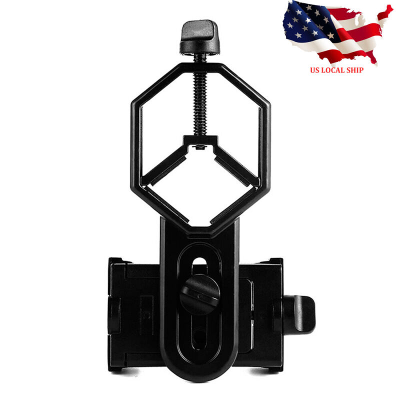 NEW! Universal Telescope CellPhone Mount Adapter for Monocular Spotting Scope US