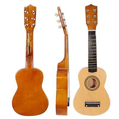 "New 21"" 6 Strings Acoustic Guitar Wood Beginners Practice Musical Instrument"